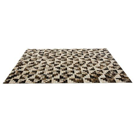 Palo by Linie Design Cowhide Small Area Rug, Black