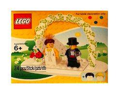 Geldgeschenk zur Hochzeit verpacken: Lego Hochzeitspaar