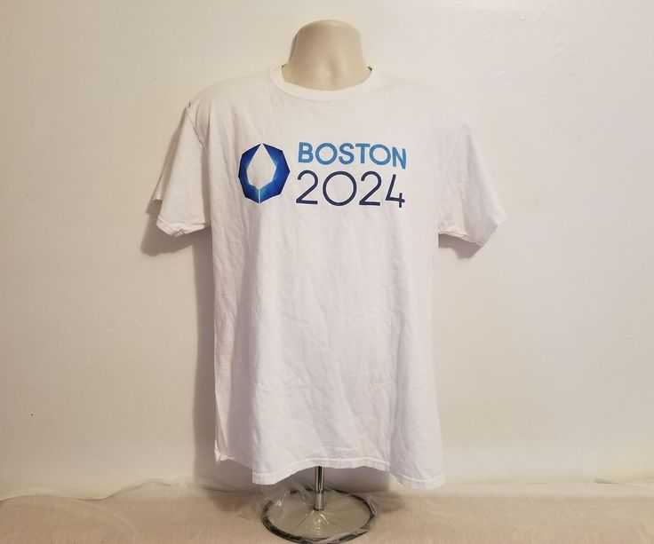 Very Rare Boston 2024 Summer Olympics Adult Large White T-Shirt #CPortandCompany #GraphicTee
