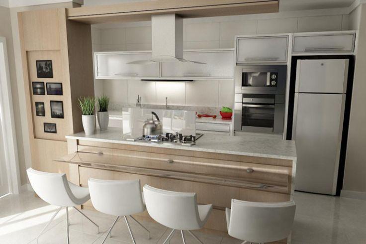 Um ambiente estreito não significa um local sem personalidade. Nas cozinhas abaixo, os profissionais do CasaPRO ensinam que é possível usar cores, revestimentos diferentes e muitos tipos de móveis …