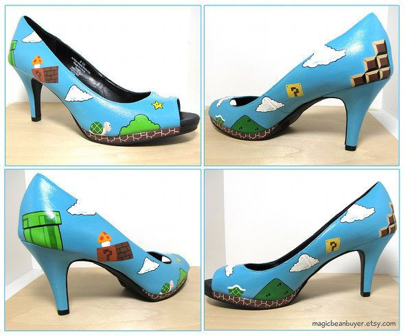 Mario high heels - perfect for the feminine geek