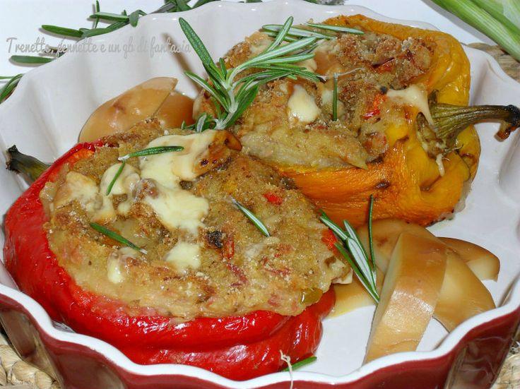 Peperoni ripieni patate, tonno e un qb di scamorza Trenette, ..