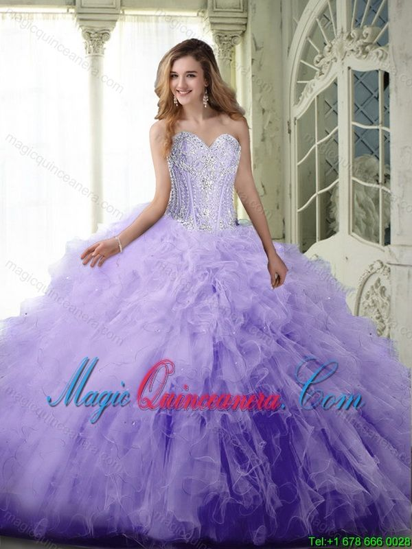 912e5baa79e t Lavender Quinceanera Dresses with Beading and Ruffles ...