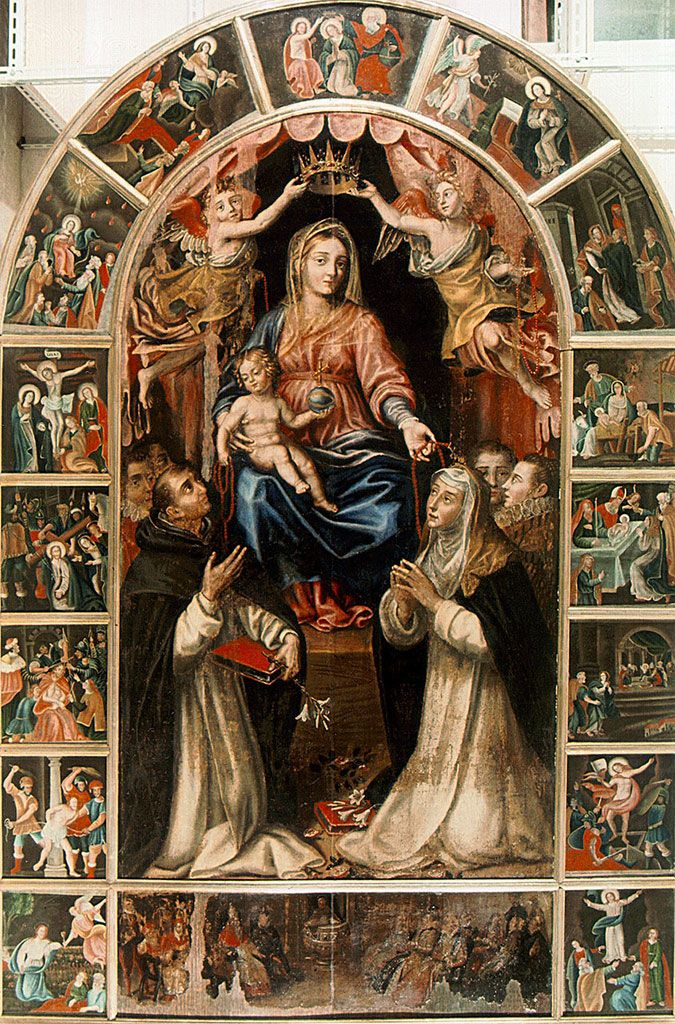 Pignola, Madonna con Bambino e santi, chiesa Madre;