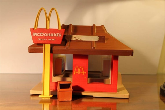 Mcdonalds Fast Food Playskool Set, c. 1974.  I wanted this so badly!