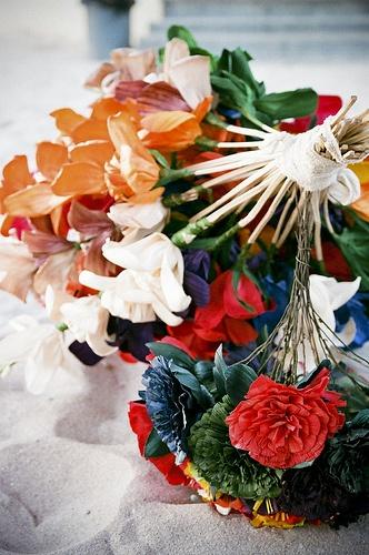Flores de hoja de tamal :)