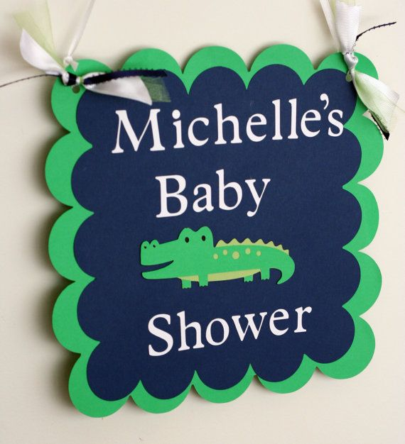 Alligator Baby Shower Happy Birthday Door or Wall by AngiesDesignz, $13.00