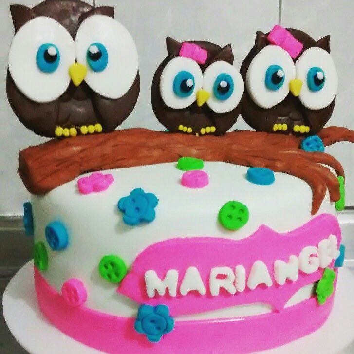 Baby shower cake owl