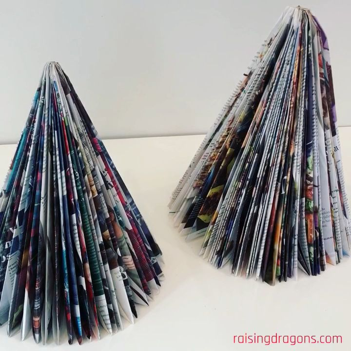 Magazine Christmas Trees * ages 6+ ⋆ Raising Dragons