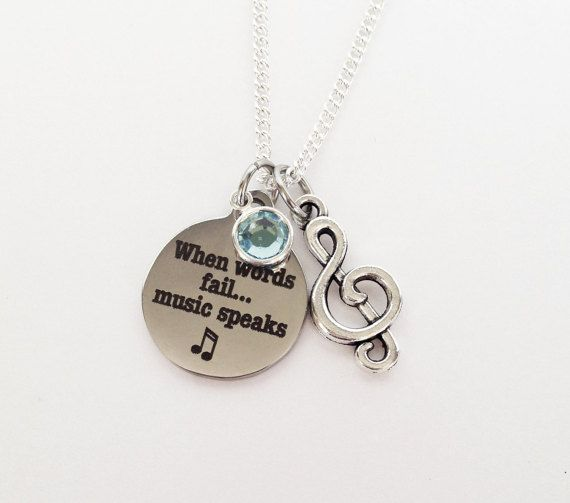 Music Gift, Music Lover, Music Teacher Gift, Music, Music Note, Music Lover Gift, Gifts for Musician, Choir Gifts, Music Necklace, Choir