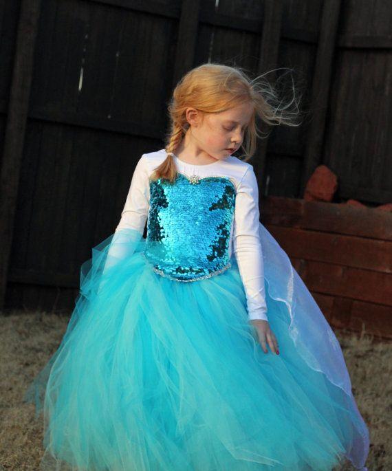 Queen Elsa Costume Tutu Leotard por SocktopusCreations en Etsy, $120.00