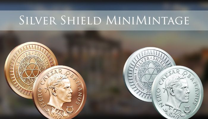 GSM presents Silver Shield #MiniMintage. A brand new design will be featured every Monday (EXCLUSIVELY AT GOLDEN STATE MINT)…FOR 1 WEEK ONLY! Offered in #silver and #copper. This week's design is Obamanus, and it ends Sunday. Act Now! These will never be available again! www.GoldenStateMint.com