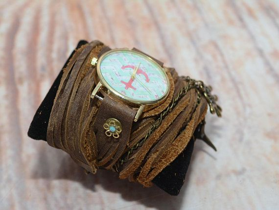 Anchor Watch For Women's Anchor Leather Watch Leather