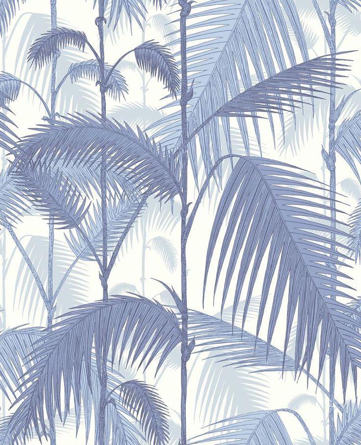 Cole & Son Wallpaper 95/1005.CS Palm Jungle Blues/ White
