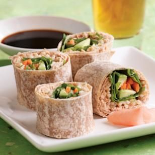 Shake it up a little bit and try these tasty Spicy Tuna Wraps for lunch or a nice light dinner. These wraps are made with watercress but any greens will work. Give this recipe a try and let us know what you think! @EatingWell Magazine
