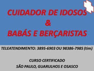 CURSOS PROFISSIONAIS E CULTURAIS: CURSO DE CUIDADOR ACOMPANHANTE DE IDOSOS NA ZONA L...