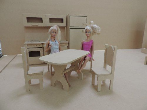 Casita de mu ecas barbie con muebles lista para pintar - Casa de barbie con ascensor ...