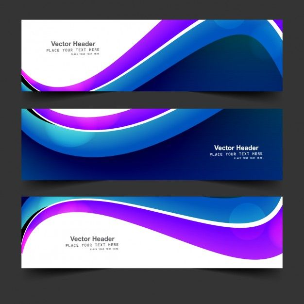 Free vector blue and purple wavy banner #32628