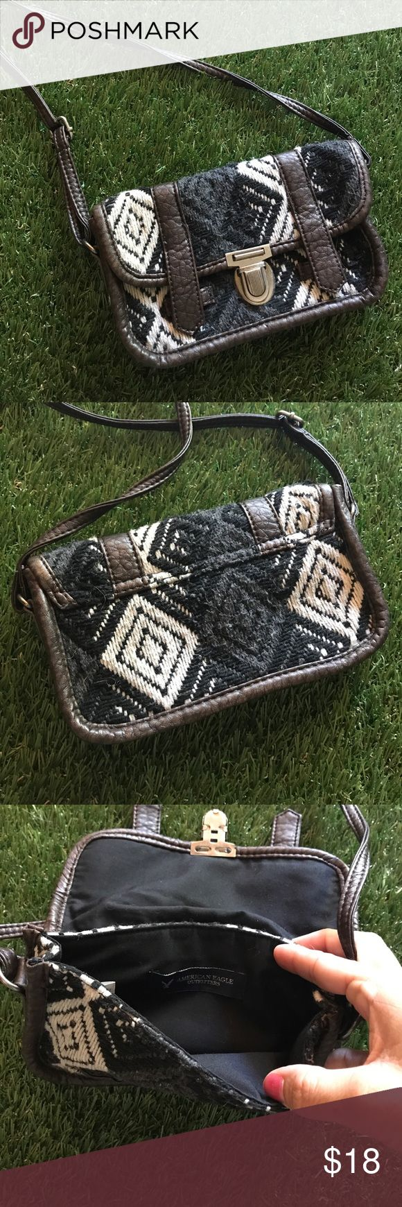 """Fiesta cross body purse Cute cross body purse , measures 7.5"""" x 5"""" . Strap is adjustable fits an iPhone plus and some money - perfect for concerts festivals etc American Eagle Outfitters Bags Crossbody Bags"""