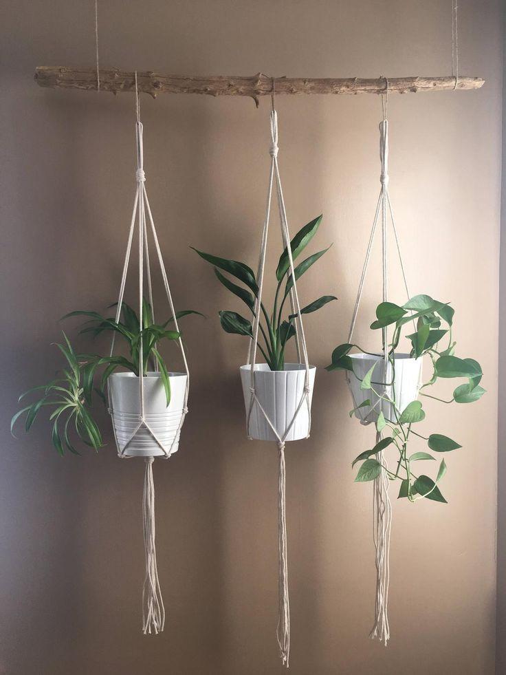Minimalistischer Macrame Plant Hanger / / Modern M…