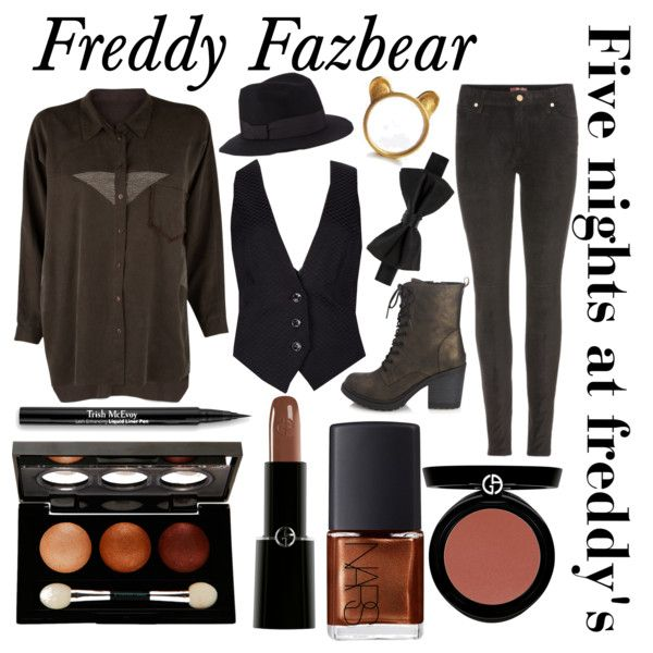 """""""Five nights at Freddy's inspired outfits #2 Freddy Fazbear"""" by tortured-puppet on Polyvore"""