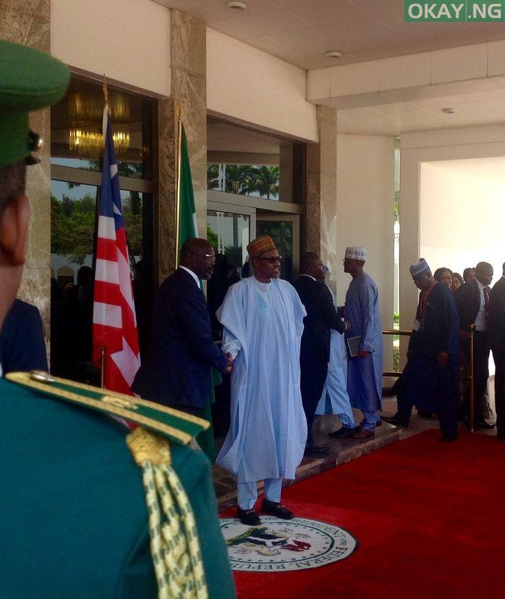 PHOTOS: Liberian President, George Weah Visits President Buhari In Aso Rock Villa - https://www.okay.ng/191696    #Abuja #Aso Rock Villa #buhari #George Weah - #Uncategorized