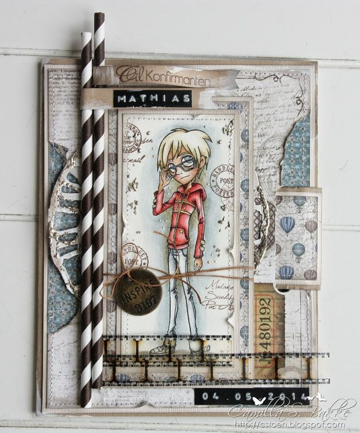 Cards by Camilla: A Confirmand card for a boy