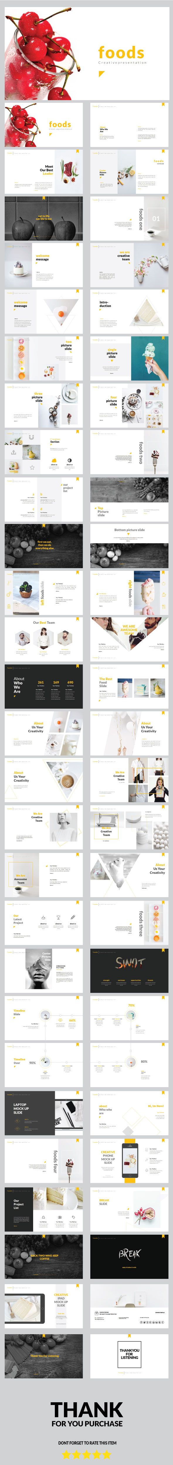 Foods Creative Keynote Template — Keynote KEY #statistics #modern • Download ➝ https://graphicriver.net/item/foods-creative-keynote-template/19158131?ref=pxcr