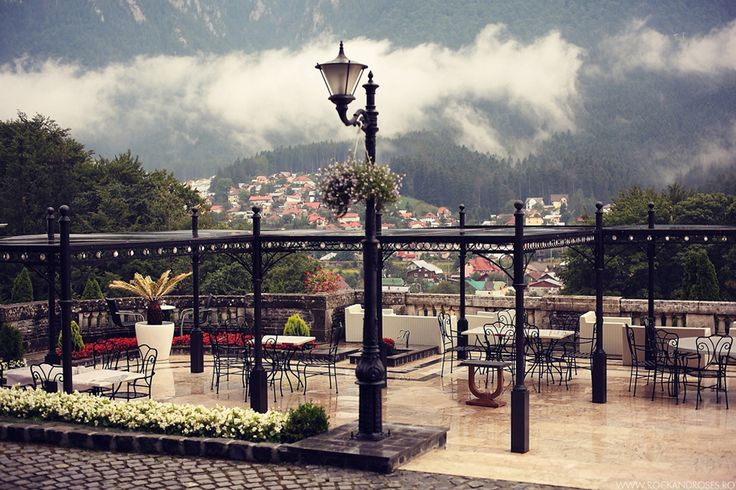 Cantacuzino  castle view and garden