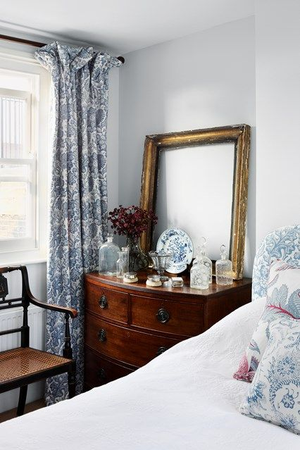 Spare Bedroom - Jamb director Henry Bickerton revived this Victorian town house in English country-house style - real homes on HOUSE by House & Garden