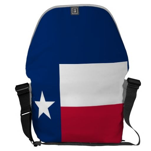 Texas State Flag Large Messenger Bag