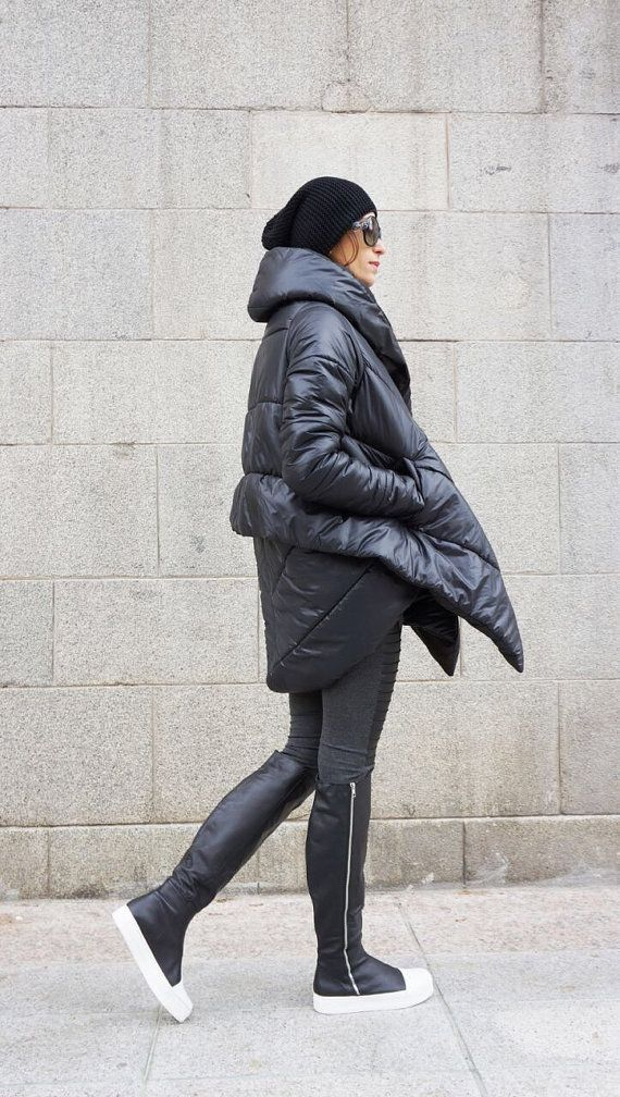 NEW Winter Extra Warm Asymmetric Extravagant Black by Aakasha