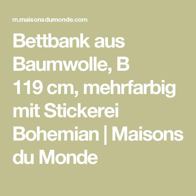 Bettbank aus Baumwolle, B 119cm, mehrfarbig mit Stickerei Bohemian | Maisons du Monde