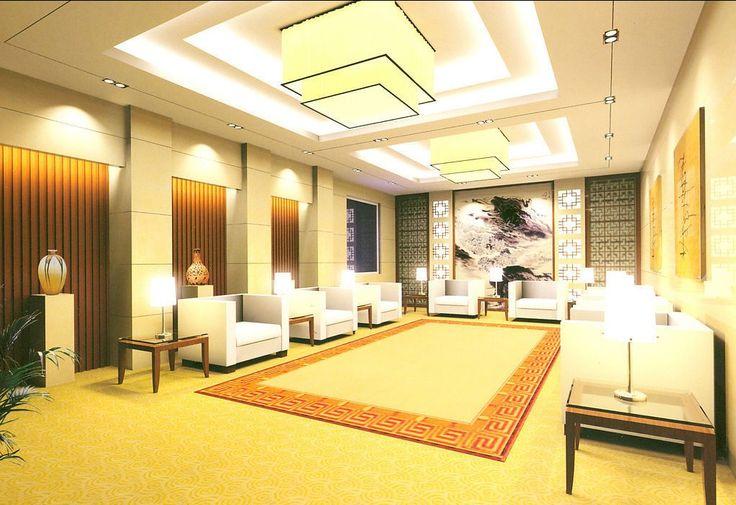 Contemporary reception hall ceiling decorating ideas - Ceiling design for living room 2015 ...