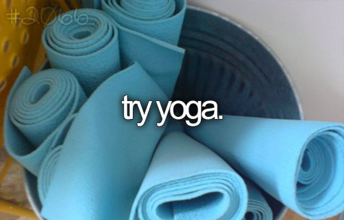 I truly have wanted to start doing yoga. I am way behind the times--I know, but I do want to start:)