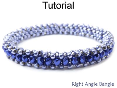 Right Angle Weave RAW Bangle Bracelet Jewelry Making Beading Pattern Tutorial | Simple Bead Patterns