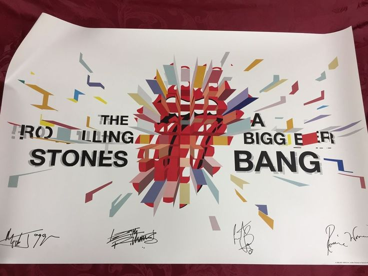 """The Rolling Stones 2005 Fan Club Poster *A Bigger Bang* embossed poster 24""""x36""""  