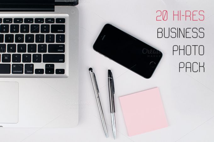 20 Business photo pack by Knofl store on @creativemarket