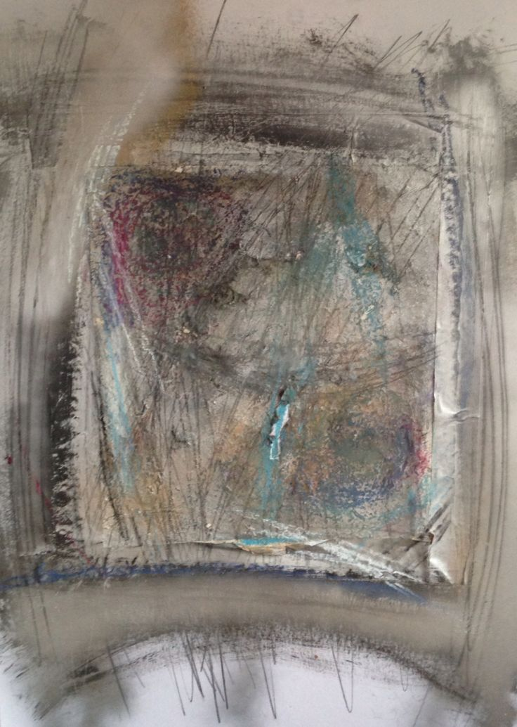 Confines abstract painting