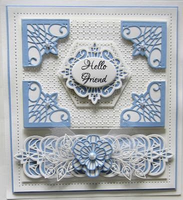 Hi bloggers!  Happy Valentine's Day too!   Today's video will show you a great way to use your corners to create a pretty border fo...