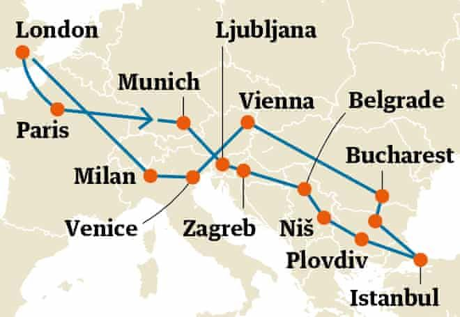 Five Great Interrail Itineraries Across Europe Travel The Guardian Europe Travel Europe Train Travel Europe