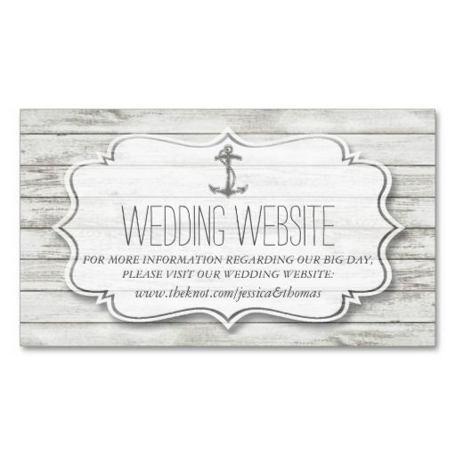 Well-liked Wedding Website Insert Card Template UU88