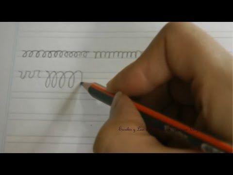 Caligrafía: Ejercicios para agilizar la mano primera parte - YouTube