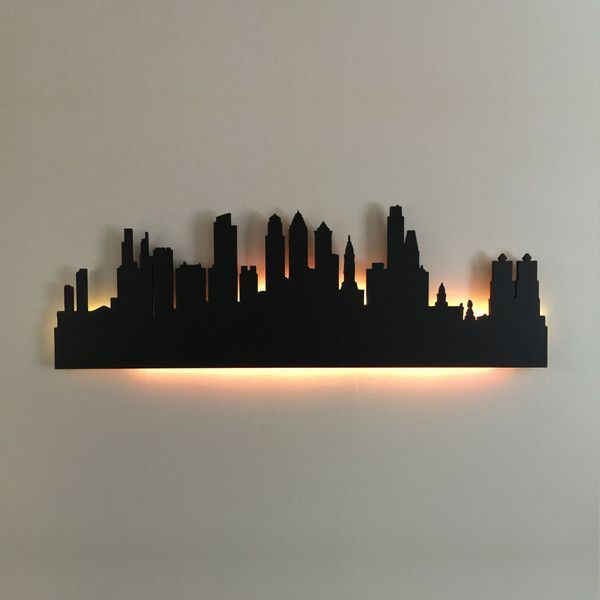 This Philadelphia City Skyline art piece would look great in a Philly fan's home. (Photo courtesy Addicted Furnishings)