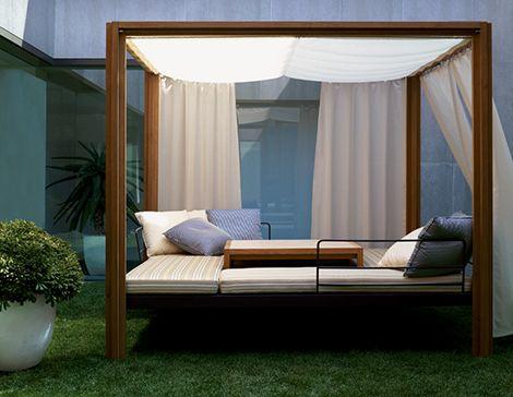 Teak Gazebo by Usona Home - Dordoni outdoor furniture | Trendir: Outdoor Beds, Holiday Ideas, Summer Vacations, Outdoor Furniture, Beds Canopies, Canopy Beds, Canopies Beds, Beds Sets, Summer Holiday