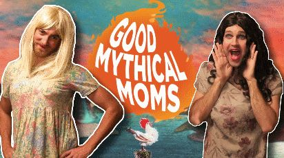 Good Mythical Moms, a spin-off of #GoodMythicalMorning. From the episode Testing the Butter Cutter.