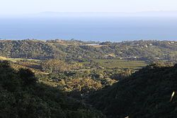 Montecito, California  View from Westmont, college days