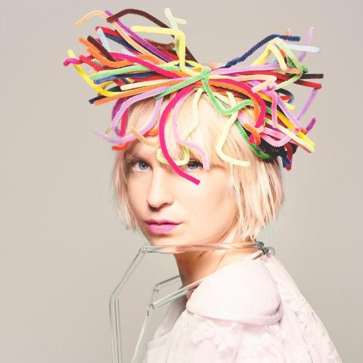the talented Sia , what a poet, what a writer yeah and awesome girl to sneak out of the opera with you win hoodie girl love you! ill be needing you soon!