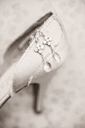 LOVe this picture of the brides earrings ON her shoes......too cool!!!  Photographix: Professional Wedding, Family, Boudoir Photography and more!