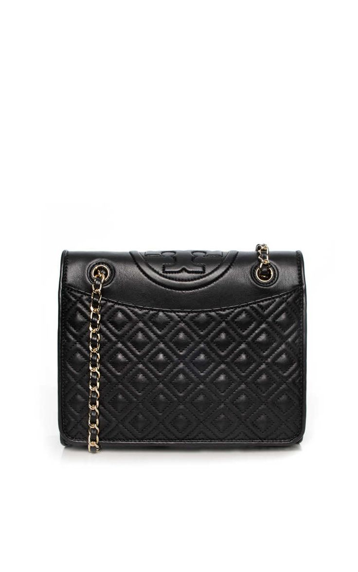 Handväska Fleming Medium Bag BLACK/GOLD - Tory Burch - Designers - Raglady